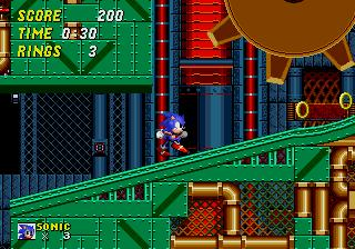 une photo d'écran de Sonic the Hedgehog 2 sur Sega Megadrive